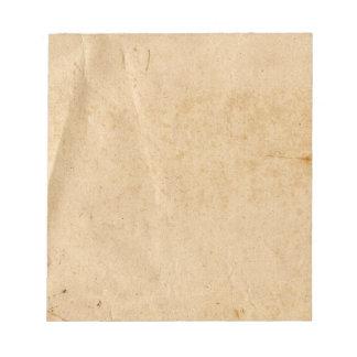 古いペーパーメモ帳 ノートパッド