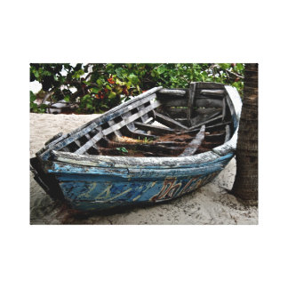 古いボートの~の漁船の~のキャンバスの芸術 キャンバスプリント