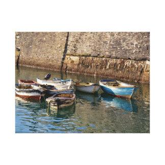 古いボートMevagisseyコーンウォールイギリス キャンバスプリント