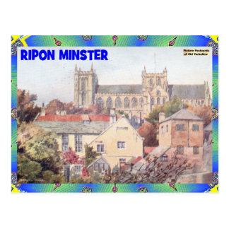 古いヨークシャ- RIPONの牧師 ポストカード