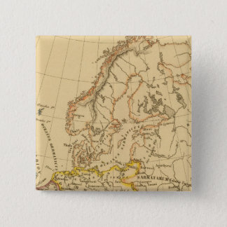 古いヨーロッパ 5.1CM 正方形バッジ