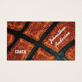 古いレトロのバスケットボールはコーチをサインしました 名刺