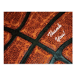 古いレトロのバスケットボールパターンありがとう ポストカード