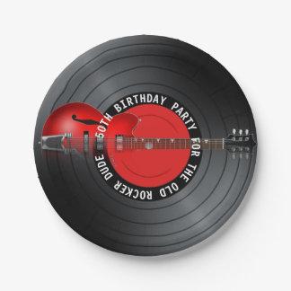 古いロッカーの男のギターの記録第50誕生会 ペーパープレート