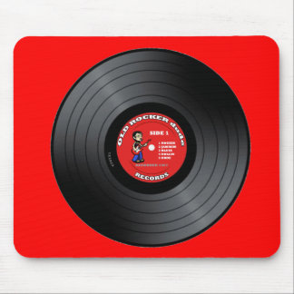 古いロッカーの男のレコードのマウスパッド マウスパッド