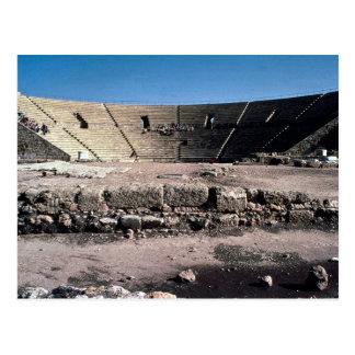 古いローマの円形劇場、Caesaria、イスラエル共和国 ポストカード