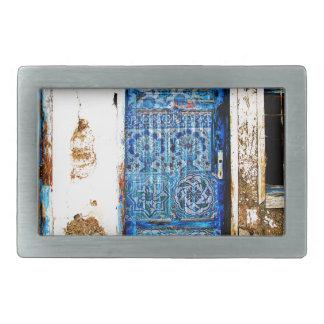 古いヴィンテージのギリシャの青いドアのBohoのスタイル 長方形ベルトバックル