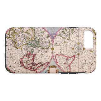 古いヴィンテージのポーランド人からの旧式な世界地図 iPhone 8/7ケース