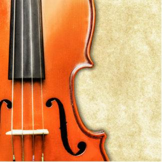 古いヴィンテージの旧式なバイオリンのフォトスカルプチャー 写真彫刻(台付き)
