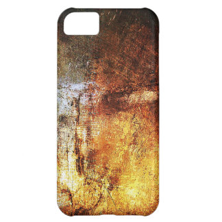 古いヴィンテージの紙の錆ついた茶色の芸術の焼跡の煙のAbstr iPhone5Cケース