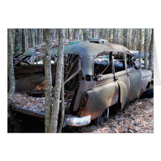 古いヴィンテージは車を破壊しました カード