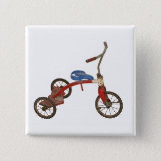 古い三輪車 缶バッジ