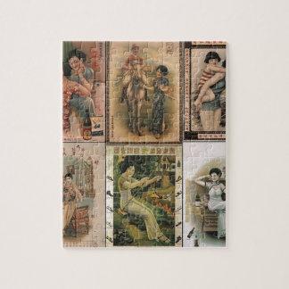 古い上海ポスター女性 ジグソーパズル