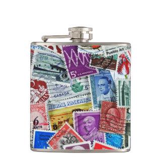 古い切手のコレクション フラスク