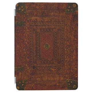 古い刻まれた革および黄銅 iPad AIR カバー
