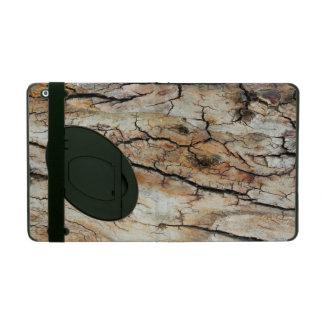 古い割れた木製の自然な樹皮の写真 iPad ケース