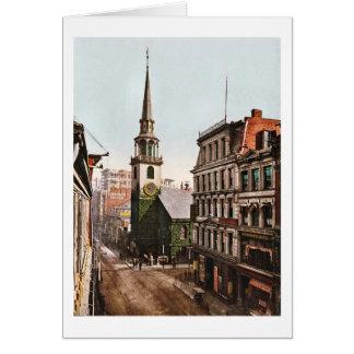 古い南教会ボストン1900年-ヴィンテージ カード