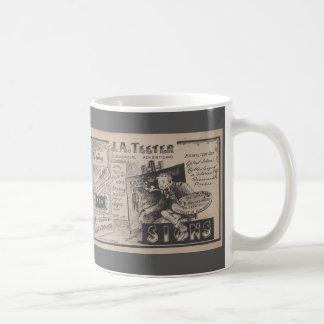 古い印ペインター広告グラフィックデザイナー コーヒーマグカップ