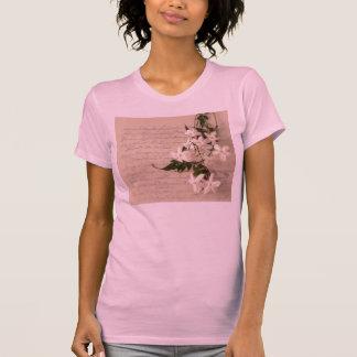 古い原稿の手書きの女性Tシャツのジャスミン Tシャツ