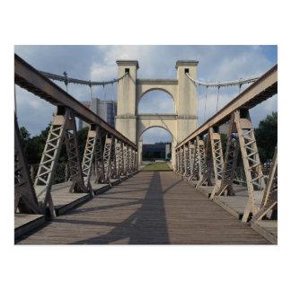古い吊り橋、Wacoの歴史的場所、テキサス州 ポストカード