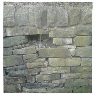 古い壁、石、煉瓦 ナプキンクロス