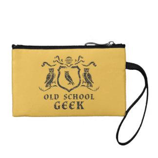 古い学校のオタクのフクロウの鍵の硬貨のクラッチ コインパース