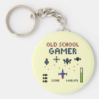 古い学校のゲーマー-宇宙船- Keychain キーホルダー