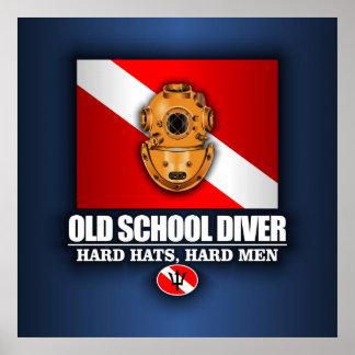 古い学校のダイバー ポスター