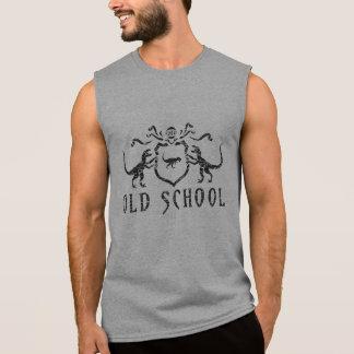 古い学校のディーノの盾 袖なしシャツ