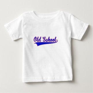 古い学校のデザイン ベビーTシャツ