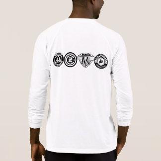 古い学校のモトクロスのロゴ Tシャツ