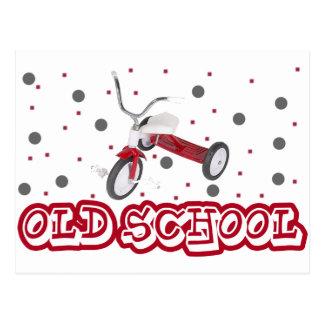 古い学校の三輪車 ポストカード