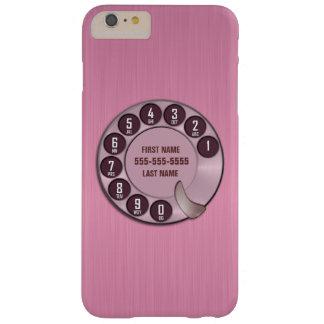 古い学校の回転式のダイヤルの電話ピンク BARELY THERE iPhone 6 PLUS ケース