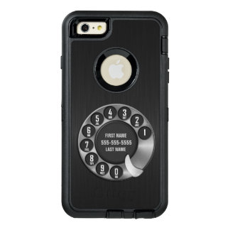 古い学校の回転式のダイヤルの電話 オッターボックスディフェンダーiPhoneケース