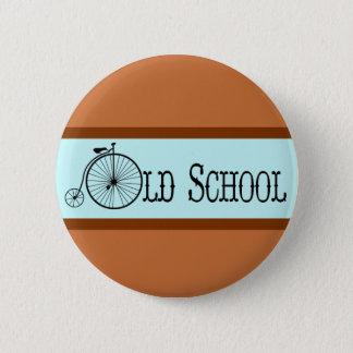 古い学校の自転車のペニーのFarthing 缶バッジ