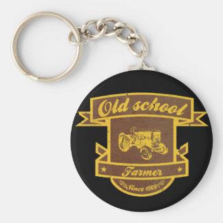 古い学校の農家 キーホルダー