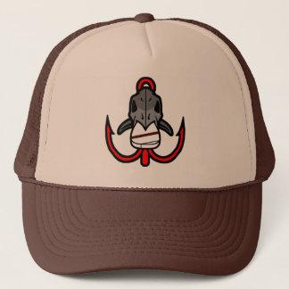 古い学校の魚釣りの激怒の帽子 キャップ