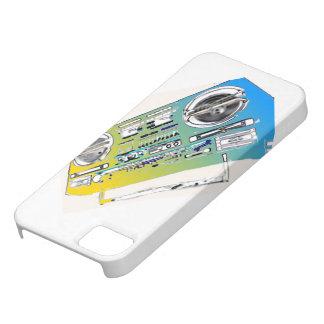 古い学校のBoomBoxデジタルの芸術の電話箱 iPhone SE/5/5s ケース