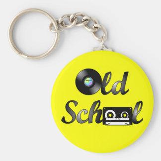 古い学校音楽媒体(黄色) キーホルダー