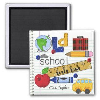 """""""古い学校""""は名前入りな先生の磁石を支配します マグネット"""