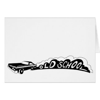 古い学校Camaro -挨拶状-中ブランク カード