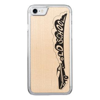 古い学校Camaro -電話カバー-木 Carved iPhone 8/7 ケース