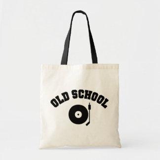 古い学校DJのレコードプレーヤ トートバッグ