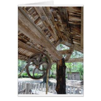古い家屋敷の井戸の車輪 カード