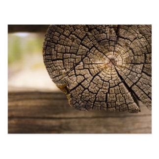 古い小屋木質感 ポストカード