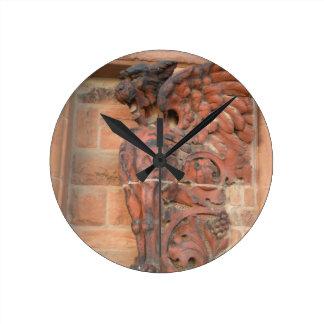 古い市場猫 ラウンド壁時計