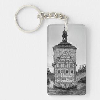古い市庁舎およびバンベルクのObere橋 キーホルダー