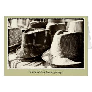 古い帽子の空白のな挨拶状 グリーティングカード