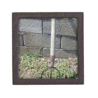 古い干し草用フォーク ギフトボックス