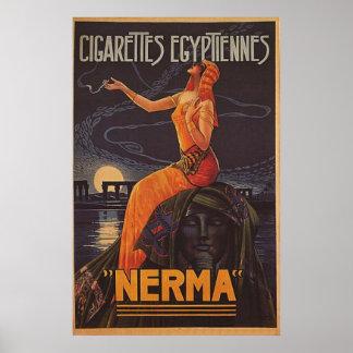 古い広告のコレクション、ヴィンテージ、喫煙 ポスター